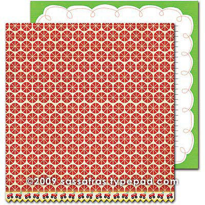 Sassafras Lass - Monstrosity Collection - 12 x 12 Double Sided Paper - Spot On , CLEARANCE