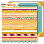 Sassafras Lass - Cherry Delicious Collection - 12 x 12 Double Sided Paper - Penelope , CLEARANCE