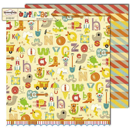 Sassafras Lass - Apple Jack Collection - 12 x 12 Double Sided Paper - Fundamentals
