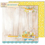 Sassafras Lass - Mix and Mend Collection - 12 x 12 Double Sided Paper - Alterations
