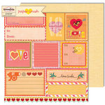 Sassafras Lass - Paper Crush Collection - 12 x 12 Double Sided Paper - Love Notes