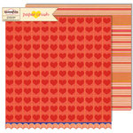 Sassafras Lass - Paper Crush Collection - 12 x 12 Double Sided Paper - Pucker Up