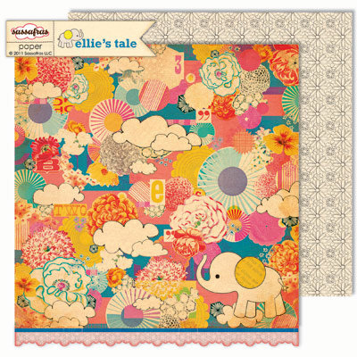 Sassafras Lass - Ellie's Tale Collection - 12 x 12 Double Sided Paper - Make Believe