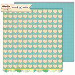 Sassafras Lass - Sweetly Smitten Collection - 12 x 12 Double Sided Paper - Heartfelt