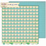 Sassafras Lass - Sweetly Smitten Collection - 12 x 12 Double Sided Paper - Heartfelt