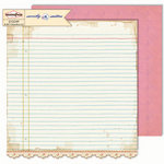 Sassafras Lass - Sweetly Smitten Collection - 12 x 12 Double Sided Paper - Pen Pals