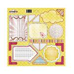 Sassafrass Lass - Serendipity Collection - Journal Tag 12x12 Cardstock Stickers - Sunshine Lollipop, CLEARANCE