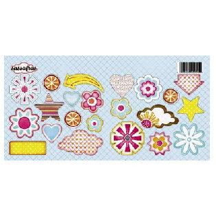 Sassafras Lass - Sunshine Lollipop Collection - Cardstock Sweet Treats Stickers - Sunshine Lollipop