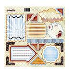 Sassafras Lass - Robotics Collection - 12x12 Cardstock Journal Tag Stickers - Robotics, CLEARANCE