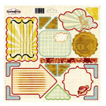 Sassafras Lass - Life is Beautiful Collection - Journal Tag 12x12 Cardstock Stickers - My Dearest, CLEARANCE