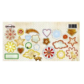 Sassafras Lass - Life is Beautiful Collection - Sweet Treats Cardstock Stickers - My Dearest, CLEARANCE