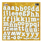 Sassafrass Lass - Life is Beautiful Collection - Alphabet 12x12 Cardstock Stickers - Pocket Full of Rosies, CLEARANCE