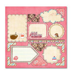 Sassafras Lass - Serendipity Collection - Hog Heaven - 12 x 12 Cardstock Stickers - Journal Tags, CLEARANCE