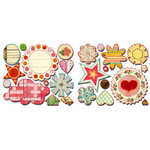Sassafras Lass - Vintage Yummy Collection - Cardstock Stickers - Sweet Treats