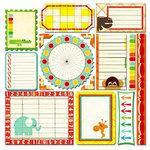 Sassafras Lass - Bungle Jungle Collection - 12x12 Cardstock Stickers - Journal Tags