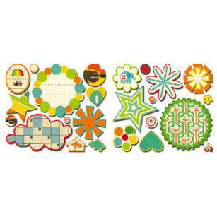 Sassafras Lass - Bungle Jungle Collection - Cardstock Stickers - Sweet Treats, CLEARANCE