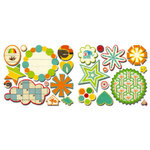 Sassafras Lass - Bungle Jungle Collection - Cardstock Stickers - Sweet Treats, CLEARANCE