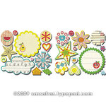 Sassafras Lass - Me Likey Collection - Cardstock Stickers - Sweet Treats