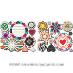 Sassafras Lass - Amplify Collection - Cardstock Stickers - Sweet Treats