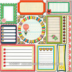 Sassafras Lass - Sweet Marmalade Collection - 12 x 12 Cardstock Stickers - Journal Tags, CLEARANCE