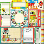 Sassafras Lass - Monstrosity Collection - 12 x 12 Cardstock Stickers - Journal Tags