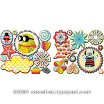 Sassafras Lass - Monstrosity Collection - Cardstock Stickers - Sweet Treats
