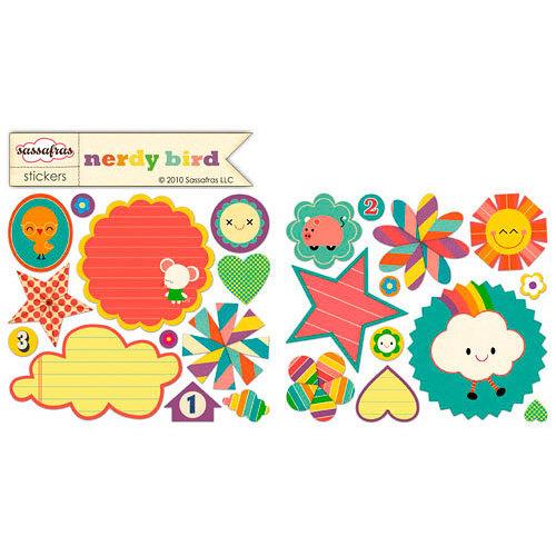 Sassafras Lass - Nerdy Bird Collection - Cardstock Stickers - Sweet Treats, CLEARANCE