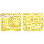 Sassafras Lass - Nerdy Bird Collection - Glittered Cardstock Stickers - Alphabet