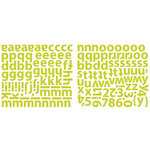 Sassafras Lass - Indie Girl Collection - Glittered Cardstock Stickers - Alphabet - Chartreuse, CLEARANCE