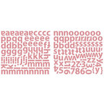Sassafras Lass - Indie Girl Collection - Glittered Cardstock Stickers - Alphabet - Pink