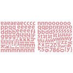 Sassafras Lass - Indie Girl Collection - Glittered Cardstock Stickers - Alphabet - Pink