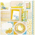 Sassafras Lass - Mix and Mend Collection - 12 x 12 Cardstock Stickers - Journal Tags
