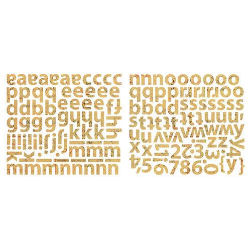 Sassafras Lass - Cardstock Stickers - Mini Alphabet - Krafty