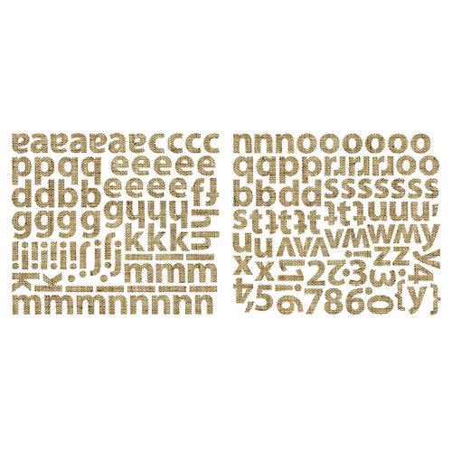 Sassafras Lass - Cardstock Stickers - Mini Alphabet - Burlap