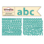 Sassafras Lass - Paper Crush Collection - Cardstock Stickers - Mini Alphabet - Blue Linen