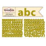 Sassafras Lass - Paper Crush Collection - Cardstock Stickers - Mini Alphabet - Khaki Type