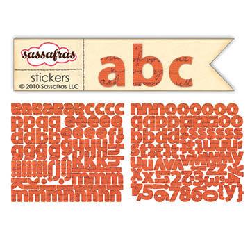Sassafras Lass - Paper Crush Collection - Cardstock Stickers - Mini Alphabet - Script