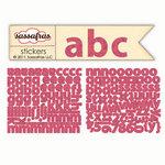 Sassafras Lass - Cardstock Stickers - Mini Alphabet - Pink Swirl