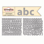 Sassafras Lass - Cardstock Stickers - Mini Alphabet - Cool Gray