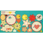 Sassafras Lass - Paper Crush Collection - Cardstock Stickers - Sweet Treats