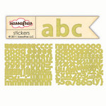 Sassafras Lass - Sunshine Broadcast Collection - Cardstock Stickers - Mini Alphabet - Goldenrod