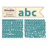 Sassafras Lass - Sunshine Broadcast Collection - Cardstock Stickers - Mini Alphabet - Slate