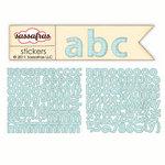 Sassafras Lass - Sunshine Broadcast Collection - Cardstock Stickers - Mini Alphabet - Blue Graph