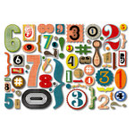 Sassafras Lass - Self Adhesive Chipboard Stickers - Numerical