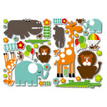 Sassafras Lass - Self Adhesive Chipboard Stickers - Wild Side