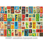 Sassafras Lass - Self Adhesive Chipboard Stickers - Alphabet - Token Blue