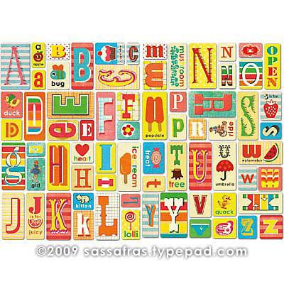 Sassafras Lass - Self Adhesive Chipboard Stickers - Alphabet - Token Pink