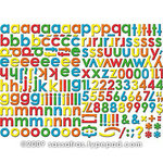 Sassafras Lass - Self Adhesive Chipboard Stickers - Alphabet - Mix and Match - Juicy