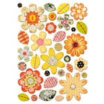 Sassafras Lass - Self Adhesive Chipboard Stickers - Garden Bits - Orange