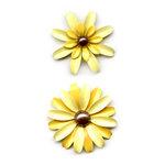 Sassafras Lass - Vintage Brooch - Lemon Yellow